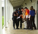 Staff at the Federal Correctional Complex in Pollock, La., go through riot training.