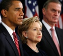 Obama has nominated Hillary Clinton and James L. Jones for key positions.