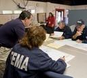 FEMA staff plan housing during Hurricane Ike.