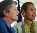 Homeland Security Secretary Janet Napolitano and D.C. Del. Eleanor Holmes Norton.