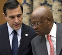 Republican Darrell Issa (left) and Democrat Edolphus Towns differ in style.