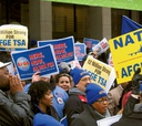 AFGE has held rallies and met with screeners at several airports.