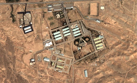A satellite photo shows an Iranian military complex March 8.