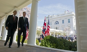 David Cameron and Barack Obama held a joint press conference Wednesday.
