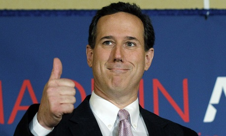 Rick Santorum's wins propelled him closer to Mitt Romney in delegate count.