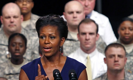 Michelle Obama is working to expand opportunities for military families.