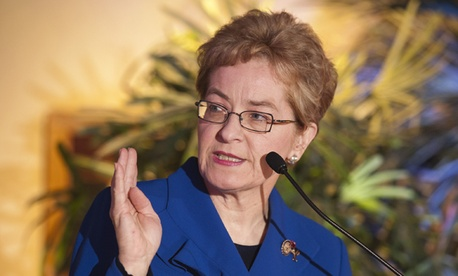 Rep. Marcy Kaptur, D-Ohio, assailed the Ryan plan.