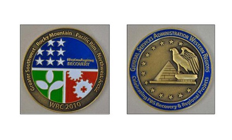 The coins awarded during the Las Vegas conference cost more than $6,000.