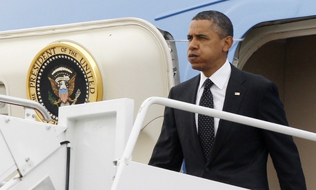 Obama returns from Afghanistan Wednesday.