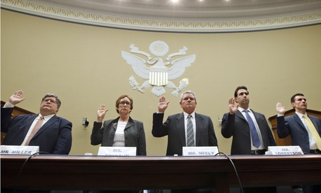 Several GSA officials were asked to testify before Congress about the recent scandal.