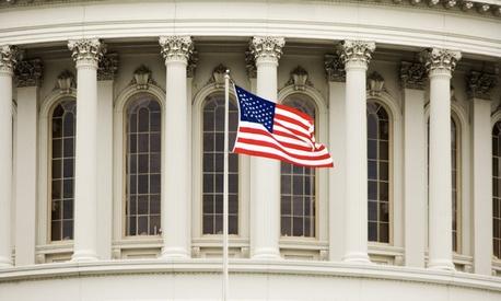 American flag at Un, ... ]