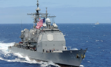 The Navy's USS Princeton uses a 50-50 blend of advanced biofuel and traditional petroleum-based fuel.