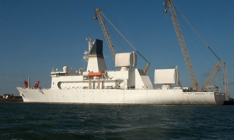 USNS Howard O. Lorenzen is one of the three Missile Range Instrumentation Ships.
