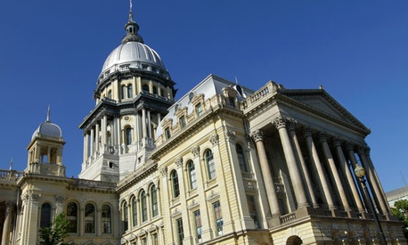 Illinois' state capitol in Springfield