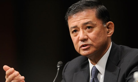 "Veterans Affairs Secretary Eric Shinseki said he ""will hold accountable any individuals who violated standards of conduct."""