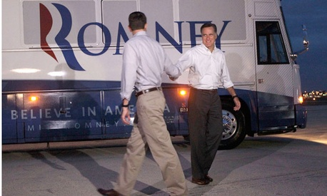 Mitt Romney introduced Paul Ryan as his running mate Saturday.