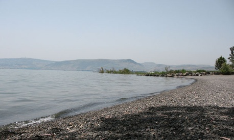 The shores of the Sea of Galilee.