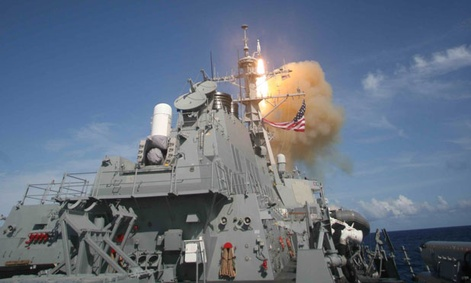 The U.S. Navy tests missile defenses in 2007.