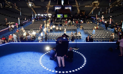 Preparations are made in Charlotte for the Democratic National Convention.