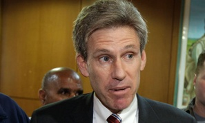 J. Christopher Stevens spoke to local media at the Tibesty Hotel where an African Union delegation was meeting with opposition leaders in Benghazi in 2011.