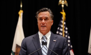 Romney spoke during campaign stops in Los Angeles and Costa Mesa, Calif., Monday.