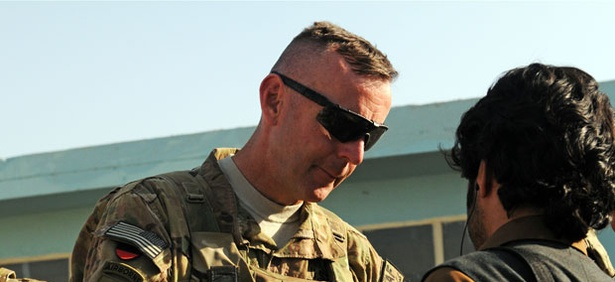 Brigadier General Jeffrey Sinclair in Afghanistan in 2011.