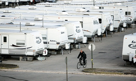 A FEMA trailer park in St. Bernard Parish, La.