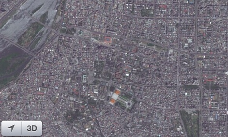 The west side of Taipei, as shown on Apple&#39;s satellite images.