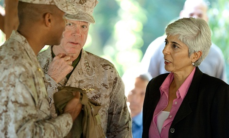 DARPA Director, Arati Prabhakar and Commandant of the Marine Corps, Gen. James F. Amos
