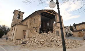 The earthquake hit the Abruzzo region in 2009.