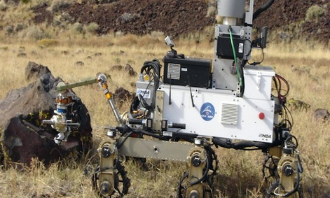 The CSA's Robot Explorer is designed to collect soil samples from Mars.