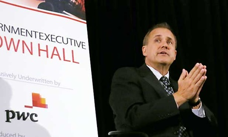 Jim Nussle, the former Office of Management and Budget director under George W. Bush, appeared at the event Thursday.
