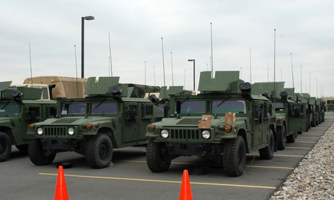 More than two dozen New York Army National Guard vehicles were deployed to New York City.