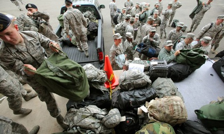 Members of the New Jersey National Guard are sent out to assist in the wake of Hurricane Sandy.