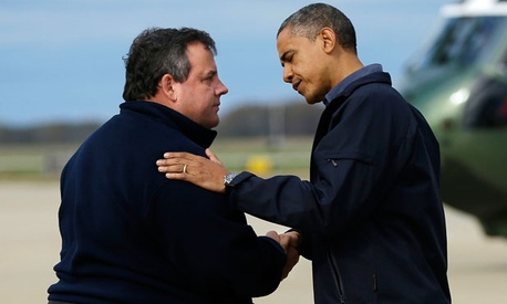 """I have to say, the administration, the president himself and FEMA Administrator Craig Fugate have been outstanding with us so far,"" New Jersey's Republican governor Chris Christie said this week."