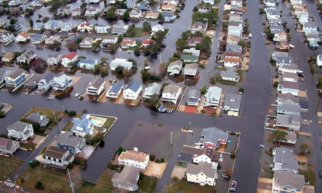 Flooding in Delaware from Hurricane Sandy