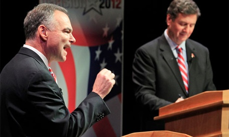 Tim Kaine and George Allen are fighting for a senate seat representing Virginia.