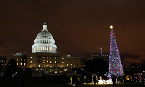 The tree was lit last year by John Boehner.