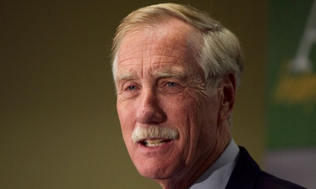 Angus  King said he may make a decision on caucusing by the end of next week.