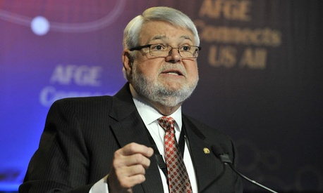 AFGE president J. David Cox also said its not necessary to increase the amount federal employees contribute to their pensions.