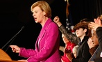 U.S. Rep. Tammy Baldwin, D-Wis. makes her victory speech after winning the race for Wisconsin's U.S. Senate seat.
