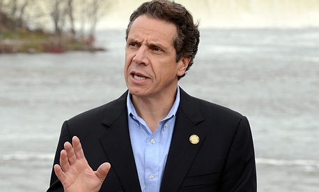 New York Gov. Andrew Cuomo discusses Hurricane Sandy preparedness on Oct. 28, 2012.