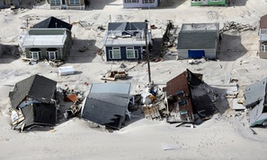 Damage in the wake of superstorm Sandy in the central Jersey Shore area of New Jersey