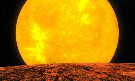 Kepler-10b orbits a star that is very similar to the sun, but is about twice as old. Its located about 560 light years from our solar system.  