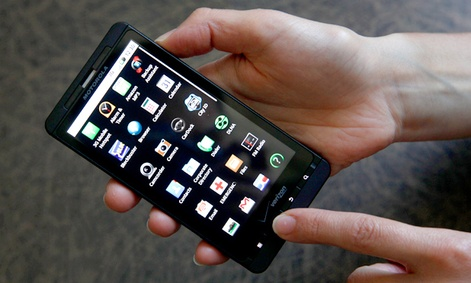 The Droid X, a touchscreen phone from 2010.