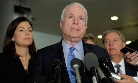  Republican Sens. Kelly Ayotte, John McCain and Lindsey Graham met with Rice Tuesday.