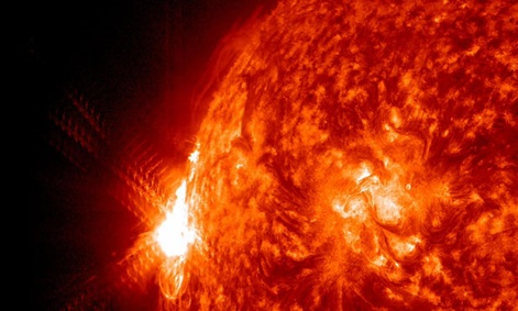 Solar flares and solar winds are common types of space weather NASA measures.