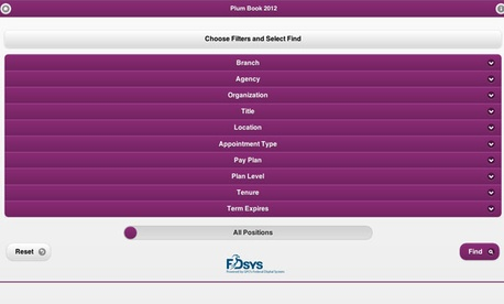 The Plum Book web app is searchable and mobile-native.