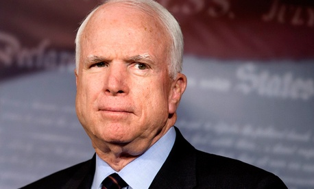Sen. John McCain, R-Ariz., pushed the cuts.