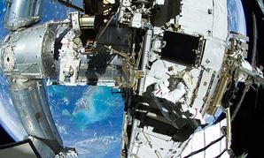 NASA astronaut Sunita Williams on the International Space Station.